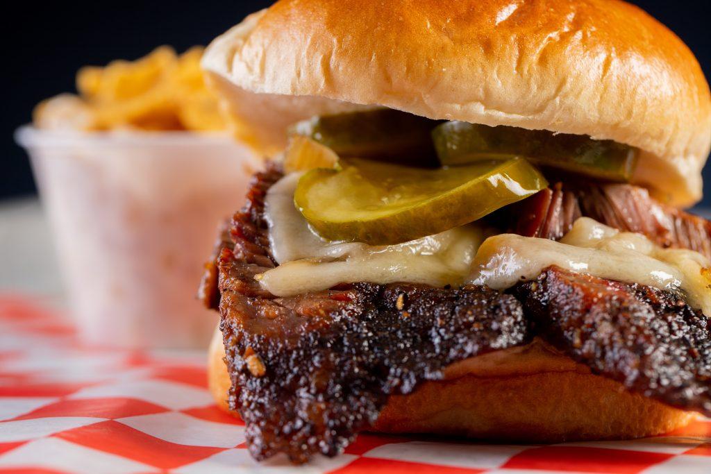 Beef brisket sandwich, Twisted Smoke Food Truck by J2BBQ