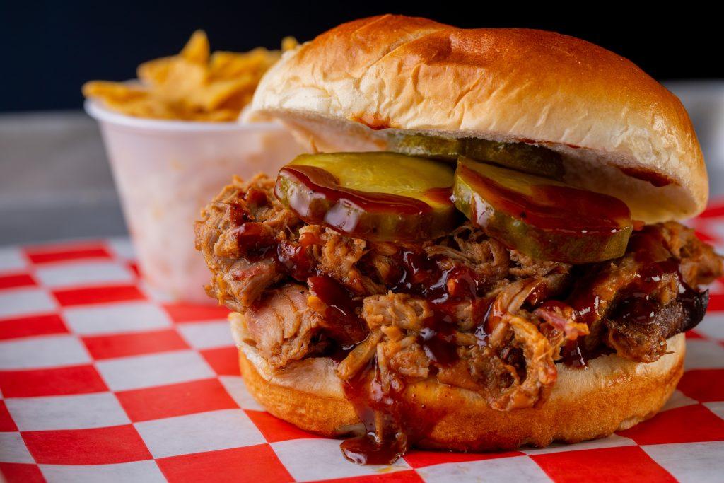 Pulled pork sandwich, Twisted Smoke Food Truck by J2BBQ