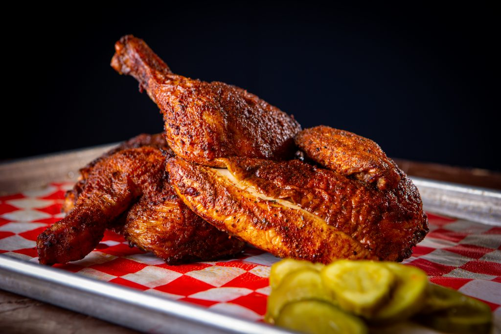 Smoked chicken catered by J2BBQ